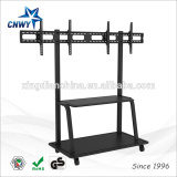 2015 hot selling modern mobile TV stand TV cart for double screens
