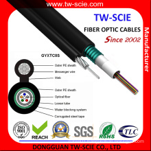 Outdoor Aerial Armoured 12 Core Fiber Optic Cable