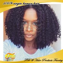 Peruca de cabelo humano completo laço indiano perucas Barato cabelo Remy Jumbo trança peruca