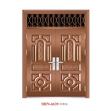 Tür / Edelstahltür / Eingangstür / Sohn und Mutter (6630)