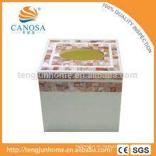 Hohe Qualität und Eco Pink Shell Tissue Box für Tischdekoration