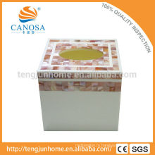 Коробка ткани высокого качества и Eco розовая раковина для украшения стола
