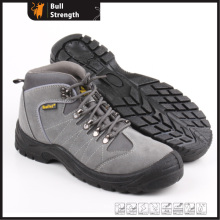 PU Injection Outsole Safety Shoe with Grey Suede Leather (5238)