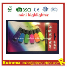Mini Textmarker 6 Farbe in Blister Verpackung Textmarker