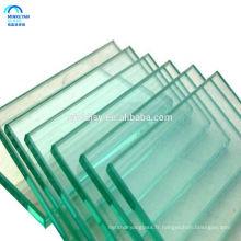 prix de verre de flotteur, verre trempé de taille de coupe, bloc de verre 12x12 du fournisseur de porcelaine