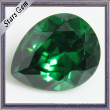 Pear Shape Emerald Green Cubic Zirconia for CZ Jewelry