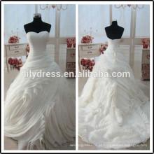 Ruffled Sweetheart Real Pictures Pavimento Comprimento Custom Made Longo formal nupcial BW278 vestido de noiva vestido de noiva padrões