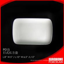 en vrac de Chine blanc céramique porcelaine gros assiettes plates