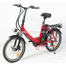 Bici eléctrica plegable 2017 del vendedor superior 250W con el pedal assit para adulto