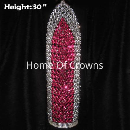Coronas de diamantes grandes y grandes de 30 pulgadas de altura