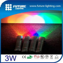 Edison 3W led flashlight with Color changing flash fade factory price