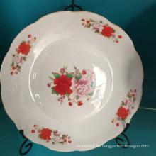 plato de sopa redondo de cerámica, plato de porcelana linyi, plato hondo