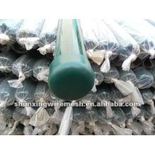 Poteaux revêtus de rouleaux métalliques revêtus de poudre