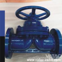 Flange Handwheel Carbon Steel Weir Type Diaphragm Valve