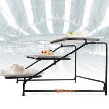 Hochwertige kommerzielle Party Buffet Dessert Fruit 3-Schicht-Kuchenständer mit Keramik-Tablett