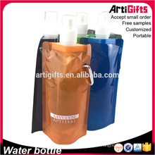 China Travel Bottles Cheap Flat Folding Water Bottle