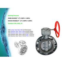 Plastic UPVC Butterfly Valve Worm Gear