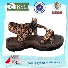 2015 de alta calidad de impresión de la cinta de zapatos africanos sandalias zapatos hombres