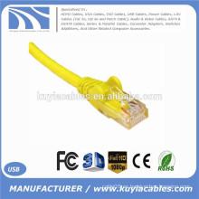 Enchufe cristalino amarillo de la alta calidad RJ45 al cable cristalino del cable del enchufe del cable del enchufe 1.5Meter de RJ45