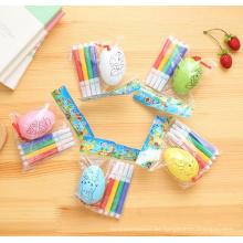 colorear juguete plástico huevo de gallina niños dibujar huevos de juguete