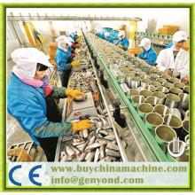 Línea de producción de pescado en conserva automático completo