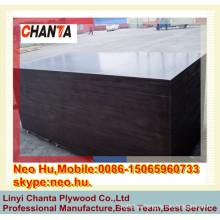 Linyi Boa WBP fenólica gule alumínio enfrentou madeira compensada