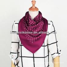 Polka Dot Foulard Popular Lady Silk Scarf