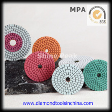 Almofada de polimento de pedra de diamante para pedra de granito de mármore