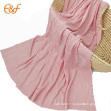 Motif de tricotage mignon bébé bambou couverture tête animaux