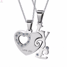 2017 silver stainless steel pendant jewelry with crystal