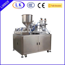 turn table ultrasonic plastic tube filling and welding machine