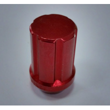 aluminium red color electrophoresis wheel lug nuts