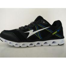 Мужские черные легкие кроссовки со специальной подошвой дизайна