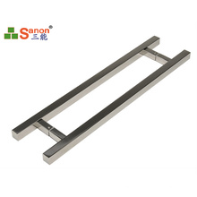 H Type Stainless Steel Interior Door Handle Double Side 1.1mm Thickness Polish Surface