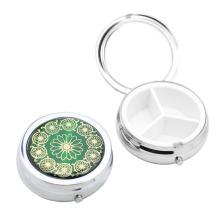 Caixa de comprimidos de metal mini caixa de comprimidos