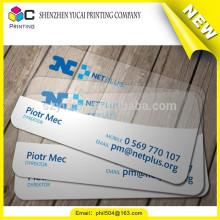Factory price transparent plastic semi-transparent business card