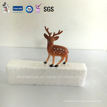 Nuevo producto profesional personalizado decoraciones plásticas de la torta de la Navidad de los ciervos de la litera