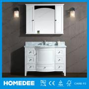 HOMEDEE Newly Oak Wood Vanity Decorated Ceramic Sanitary Ware