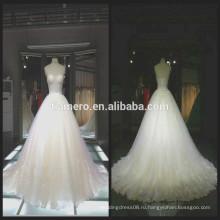 1A064 плеча кружева вышитые индивидуальные аппликация Длина пола свадебное платье