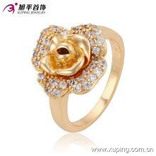 Новые моды цветок-Алмаз золото ювелирные изделия палец кольцо для женщин или девочек 13590