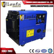 Generador diesel silencioso refrescado aire monofásico 6kw del generador diesel