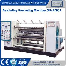 Máquina de rebobinar de película plástica Hdpe