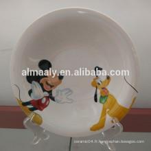 Exportateur de la Chine pour la plaque en porcelaine oméga, plaque profonde