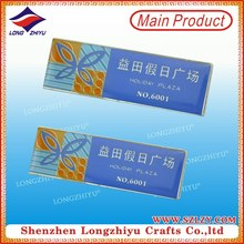 Custom Etching Enamel Name Badges Silver Plated Name Badges