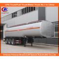 Semi reboque do depósito de gasolina do reboque do petroleiro do transporte do combustível 3axles semi
