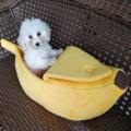 Creative dog cat litter banana shape winter warm