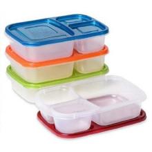 Recipiente de armazenamento de comida de 3 compartimentos