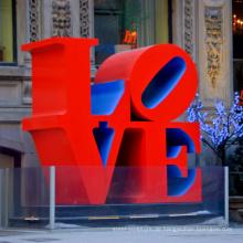 große Außenskulpturen Metall Handwerk Robert Indiana Skulptur Liebe