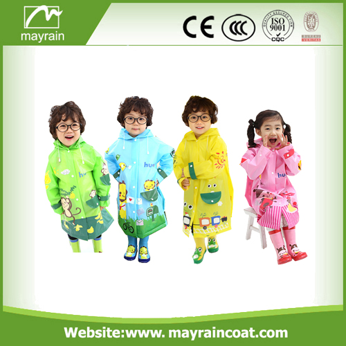 Girls And Boys Cartoon Rainsuit