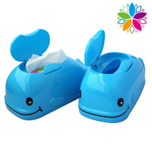 Fashionable Fish Design Plastic Tissue Box (ZJH045)